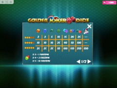 Golden Joker Dice sloturi77.com MrSlotty 5/5